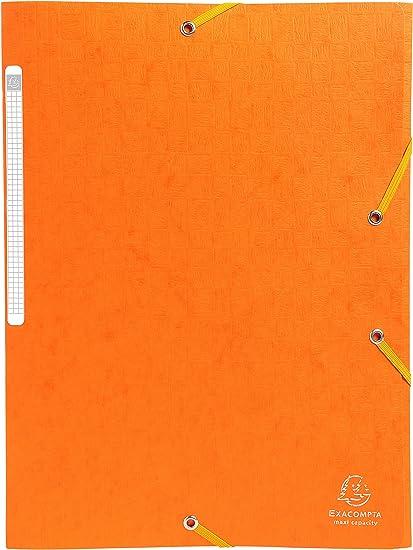 Exacompta 55758E - Pack de 10 carpetas con goma, A4, color naranja ...
