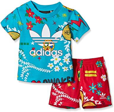 Adidas Originals Boys Baby Pharrell X Set In Turquoise