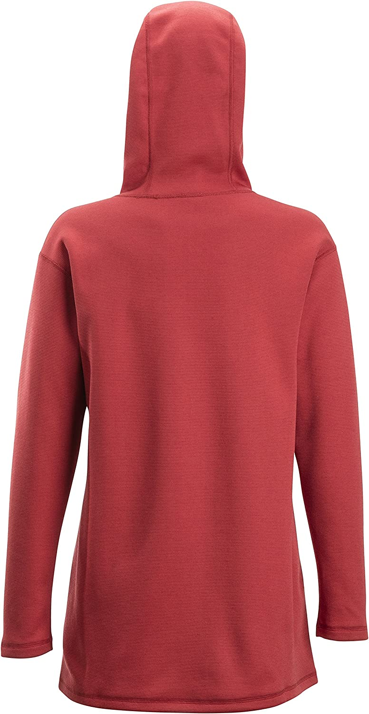 ExOfficio Womens Robson Reversible Hoody Athletic Sweaters Medium Bolero Red