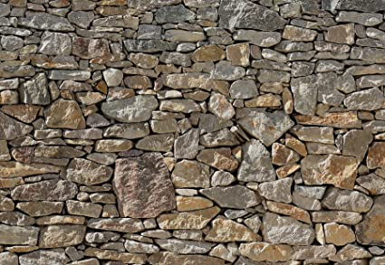 Stone Wall Huge Wall Mural 8 727 by Komar 12 Feet Wide x 8 Feet 4