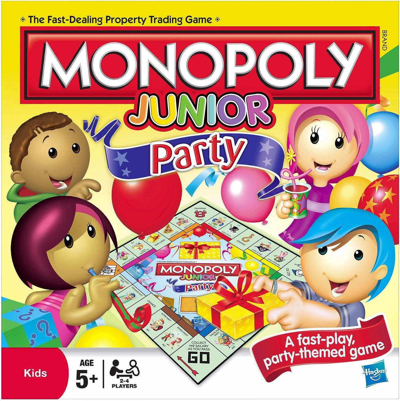 Hasbro Monopoly Junior Party - Juego de Mesa (en inglés): Monopoly Junior Party Game: Amazon.es: Juguetes y juegos