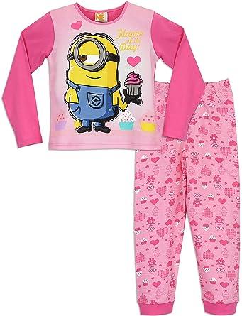 Minions - pyjamas set - despicable me - for girls - pink - 11-12 Years   Amazon.co.uk  Clothing 028c5ed48
