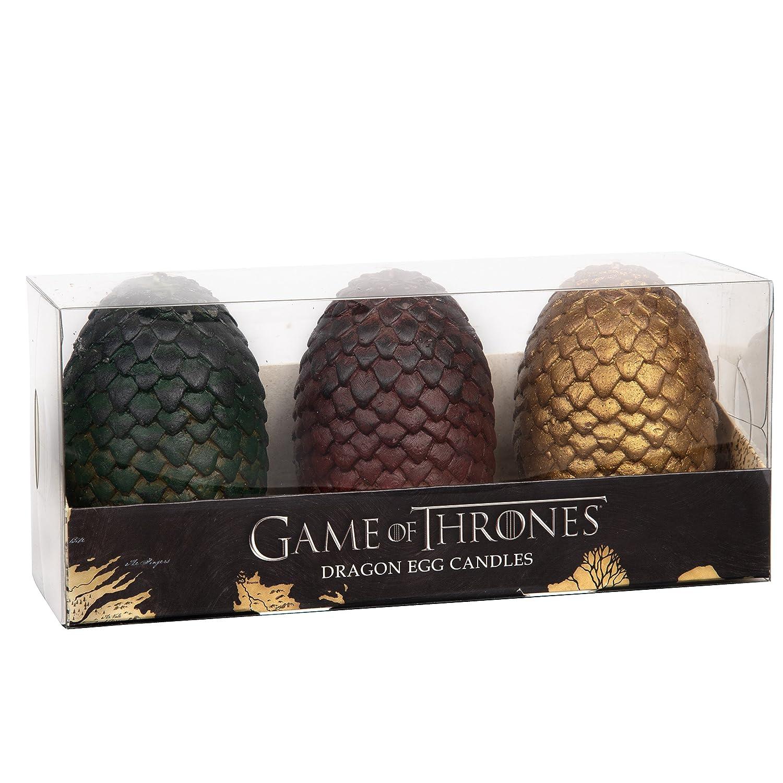 Velas De Game Of Thrones: 3 Huevos De Dragon (6,3 Cm)