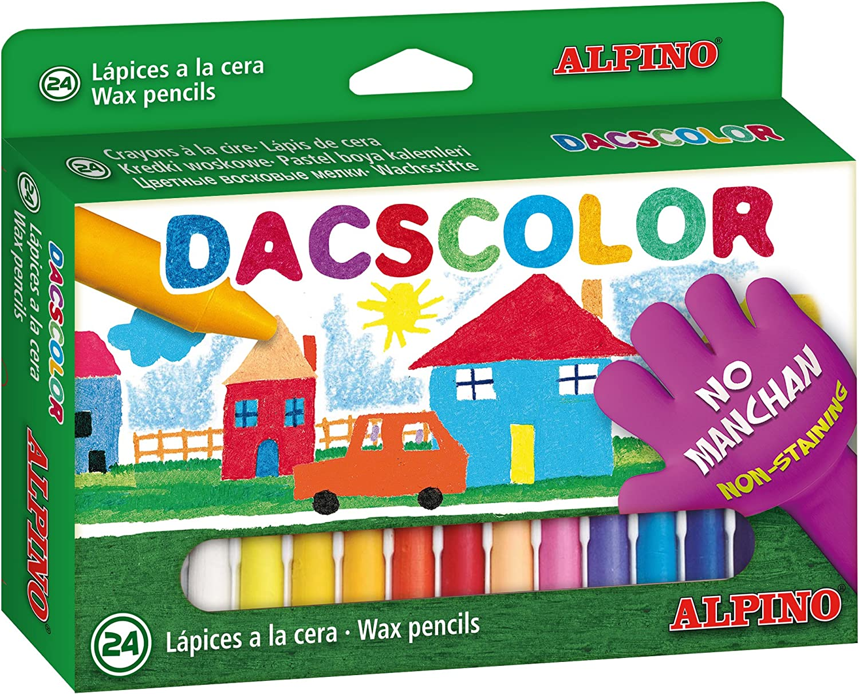 Alpino DC050295 - Estuche 24 ceras: Amazon.es: Oficina y papelería