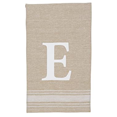 Mud Pie Grainsack Chambray Initial Towel E, E