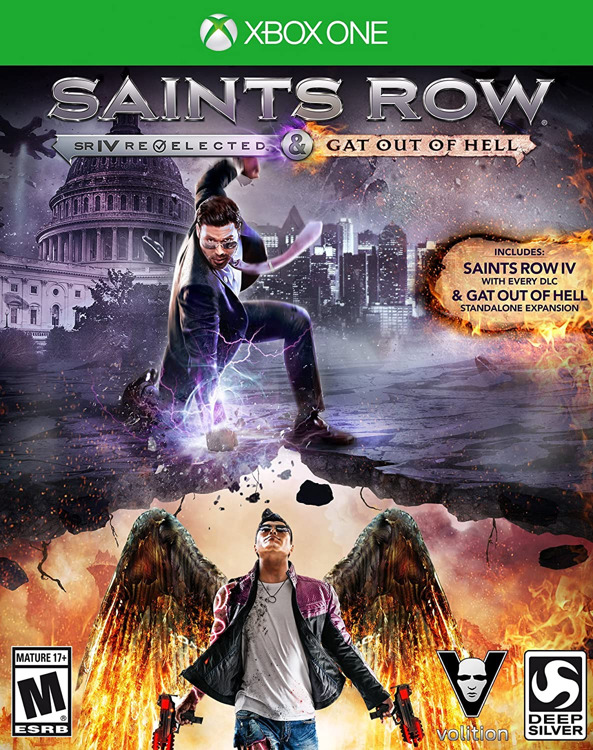 Amazon Saints Row IV Re Elected Gat Out Of Hell Xbox One Square Enix LLC Video Games