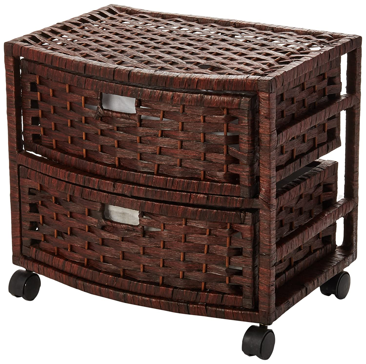 Oriental Furniture 16 Natural Fiber Occasional Chest of Drawers - Mocha