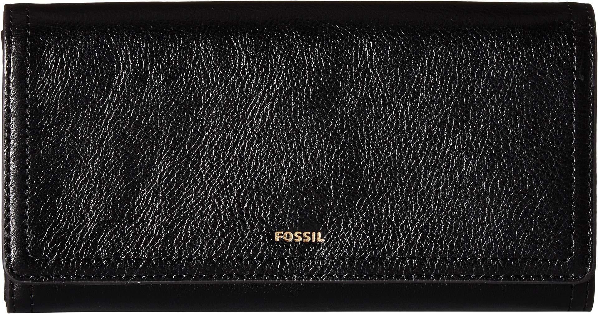Fossil Logan RFID Flap Clutch Black by Fossil