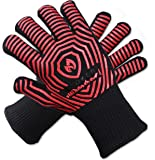 932F Superior Extreme Heat Resistant Professional Oven Gloves/Grill Glove | Premium Insulated Durable Fireproof Kitchen Mitts Designed Perfect For Cooking, Grilling, BBQ | Indoor/Outdoor Accessories
