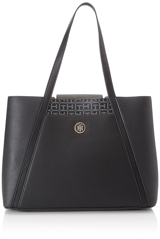 0858d3cc5 Tommy Hilfiger Bag in Bag Mujer Handbag Negro Bolso Totes para Mujer Negro  (Black/