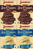 Junket Ice Cream Mix Bundle - 2 Vanilla and 2 Chocolate (4 Total)