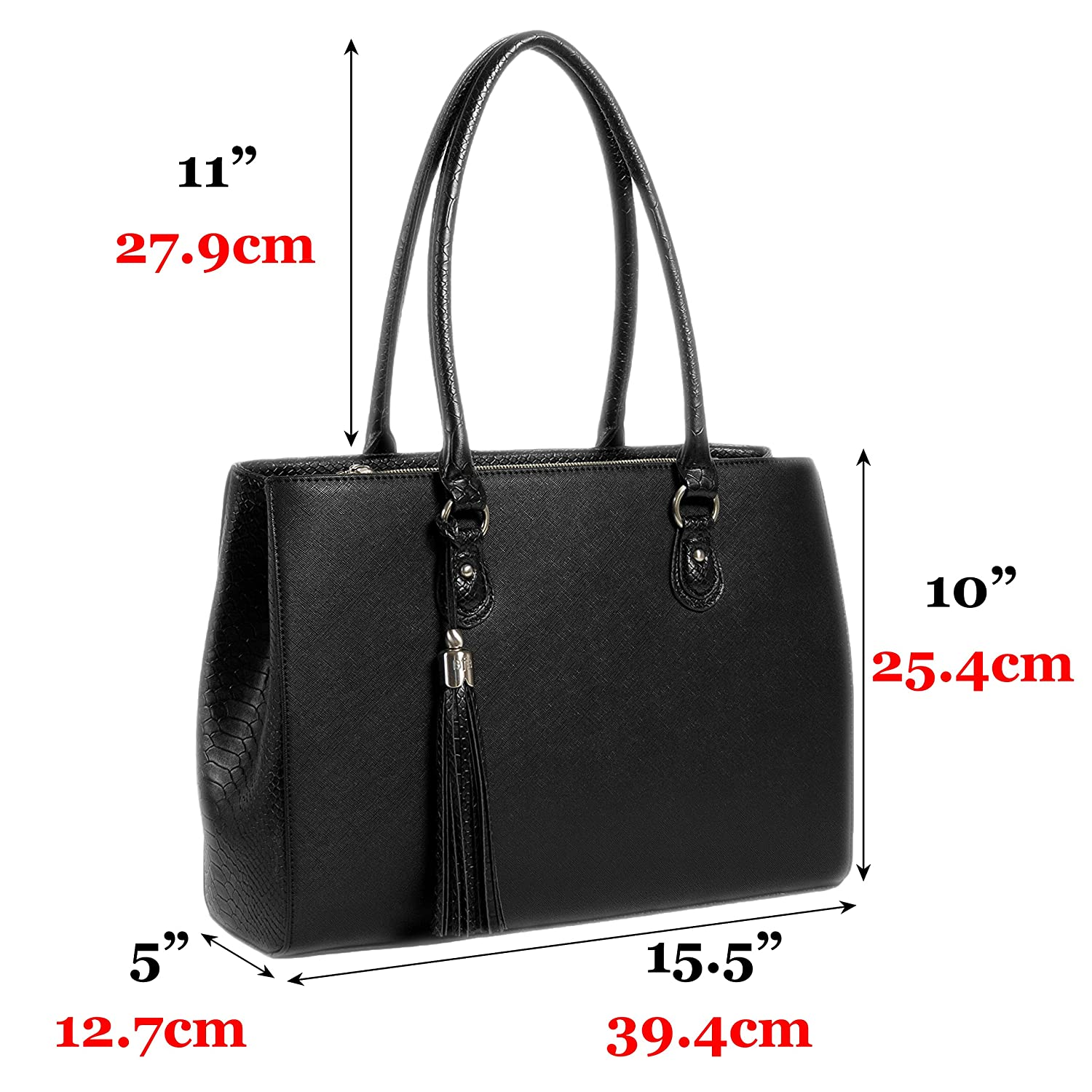 Lightweight Handmade Designer Work Tote Black My Best Friend is a Bag 5773738 BFB Laptop Tote and Tablet Bag
