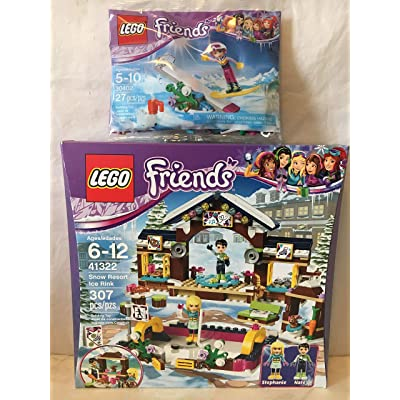 LEGO Friends Snow Resort Ice Rink & LEGO Friends Snowboard Tricks: Toys & Games
