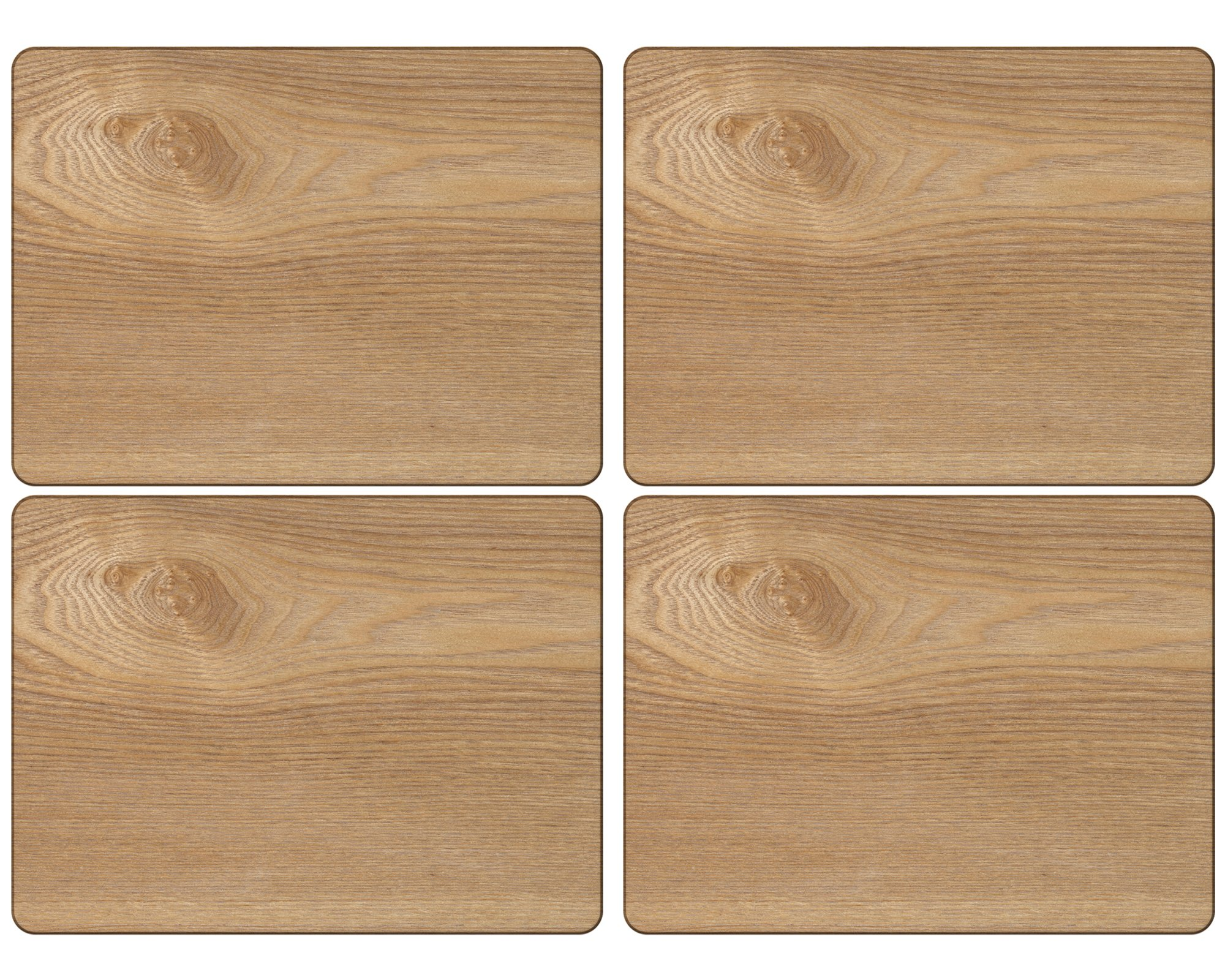 Set Of 4 Oak Veneer Placemats By Creative Tops, 29.5 x 21cm (11½'' x 8¼'')