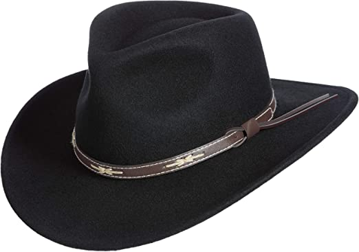 cd7c9b04f55 Overland Teton Crushable Wool Cowboy Hat at Amazon Women s Clothing ...
