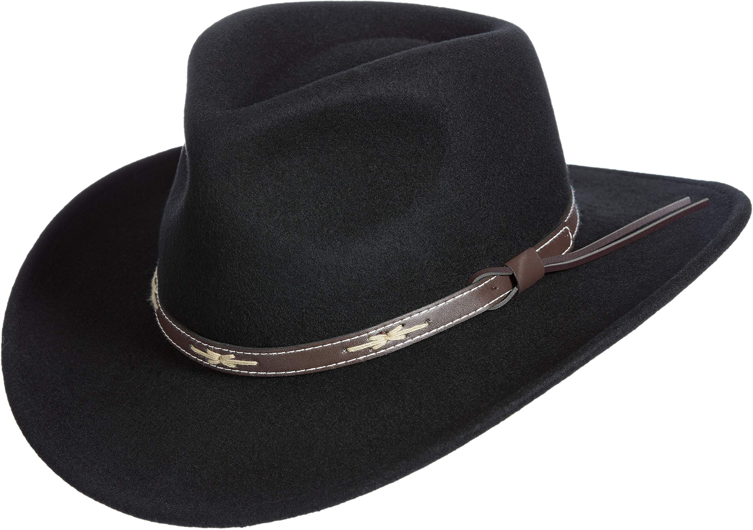 Overland Sheepskin Co Teton Crushable Wool Cowboy Hat Black