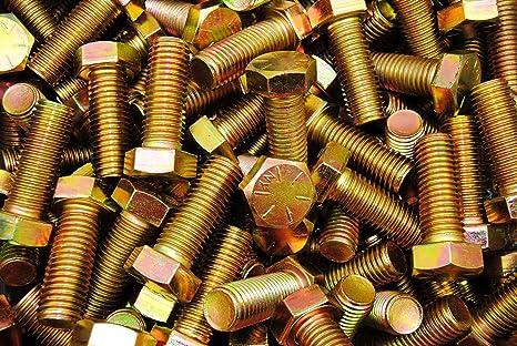 6 Grade 8 Hex Head 3//4-10 x 8 Cap Screws Bolts Coarse Yellow Zinc