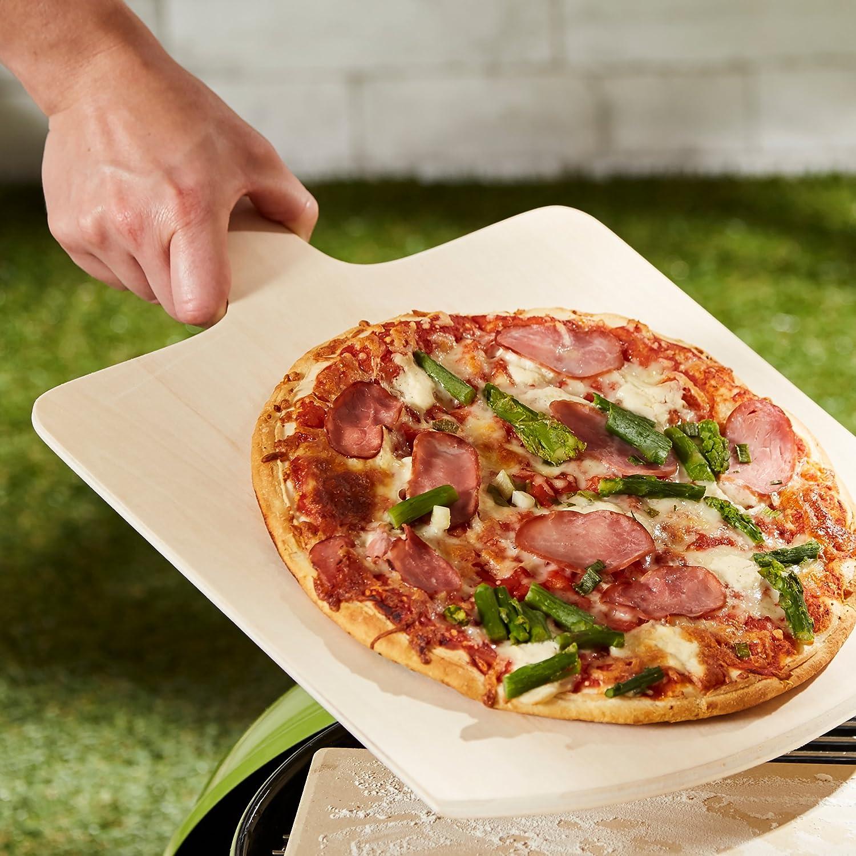 LEVIVO Paletta Pala per Pizza Bianco Legno 41x29x0.5 cm