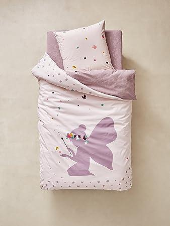 Vertbaudet Bettwäsche Set Für Kinderkleine Fee Grauviolett 140x150