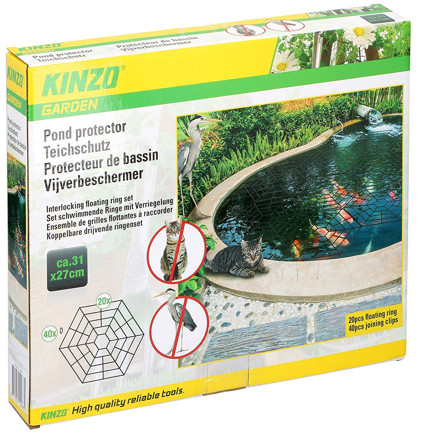 20Pcs//Set Pond Protector Guard Floating Cover Net Water Fish Grid Cats Heron