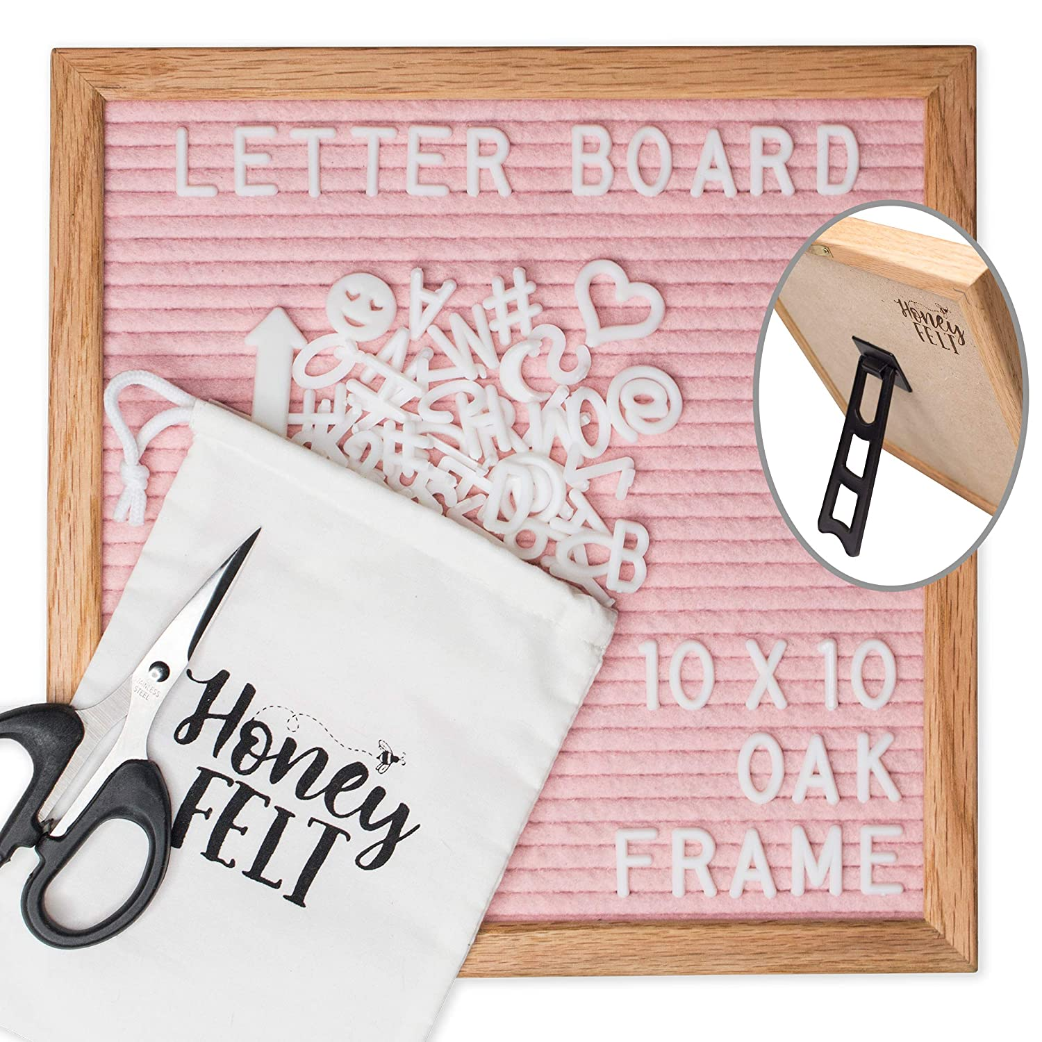 Amazon Felt Letter Board 10x10 With Attached Stand 346