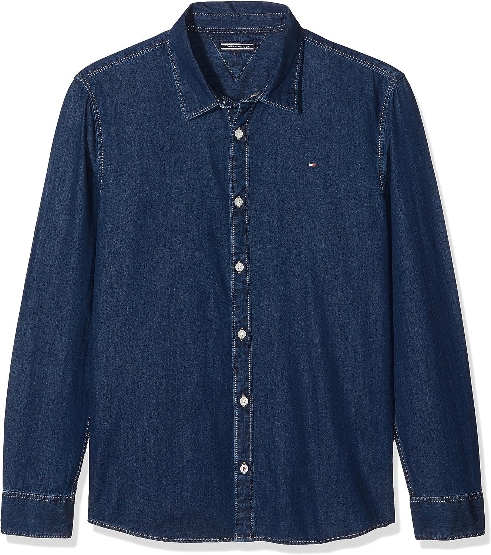 Tommy Hilfiger D Indigo Shirt L//S Camicia Bambino