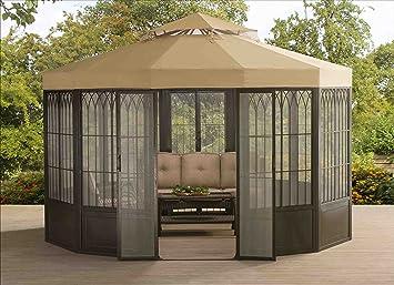 Perfect SunJoy 110107004 Forks Screen House Pavilion