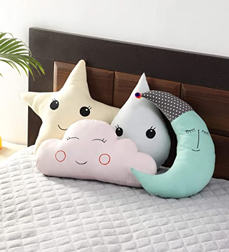 Cute Baby Pillow Cushion Cotton Baby Room Decor Child Soft Bed Doll Seat Plush