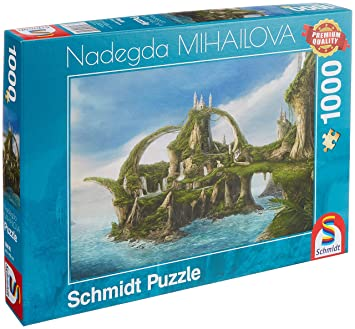 Schmidt Spiele Jigsaw Puzzle 59610 NADEGDA Mihailova Island Of Waterfalls 1000 Pieces Coloured