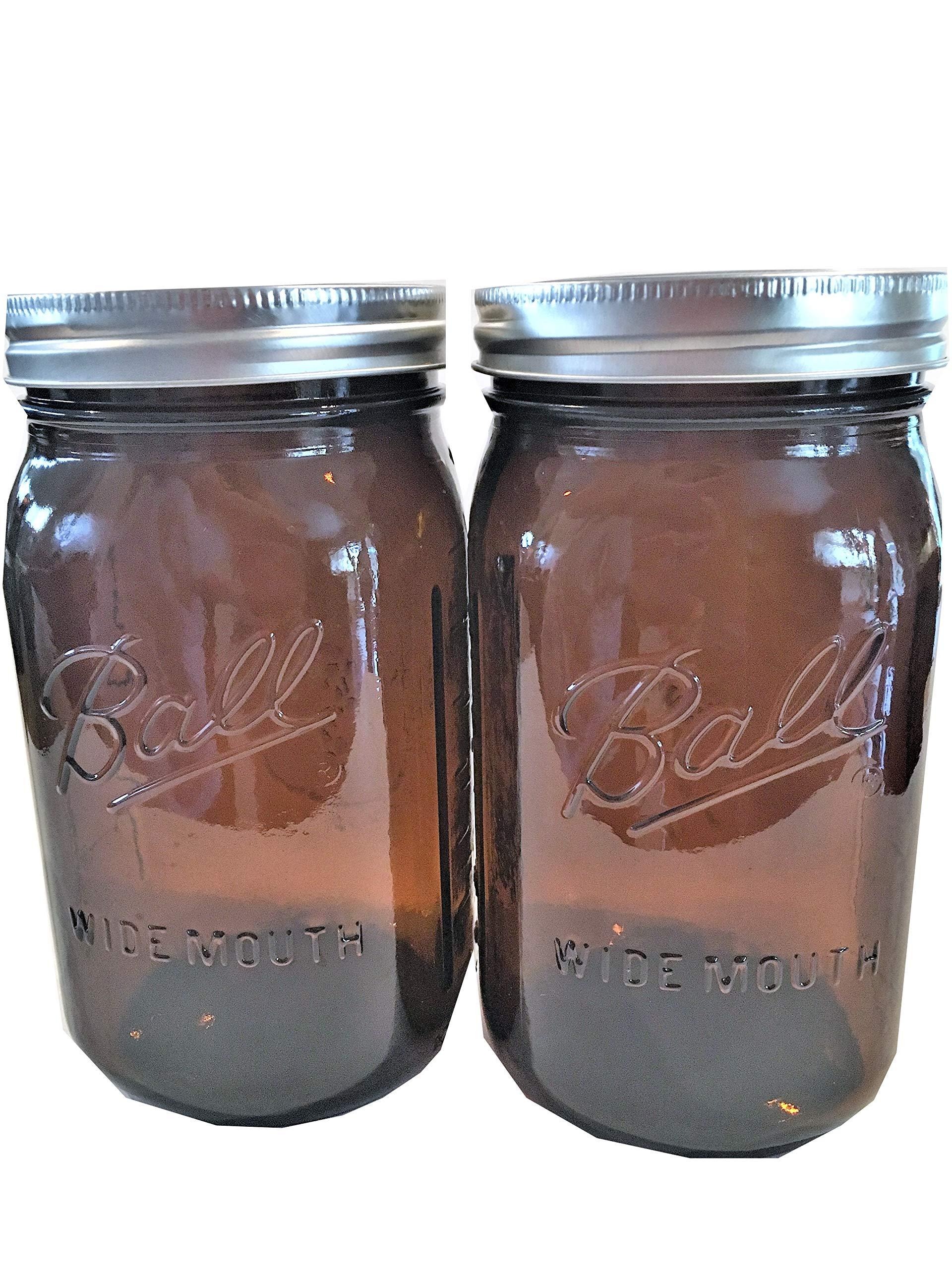 Ball Mason Jars-32 oz. Amber-Set of 2-NEW COLOR !!!