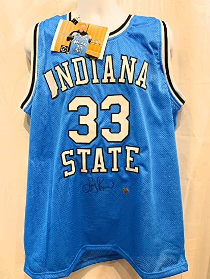 quality design 653bf 04148 Larry Bird Indiana State Signed Autograph Rare Custom Jersey ...
