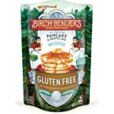 Organic Gluten-Free Pancake and Waffle Mix by Birch Benders, Made with Brown and White Rice, Potato, Cassava, and Hazelnut Flour, 14 Ounce