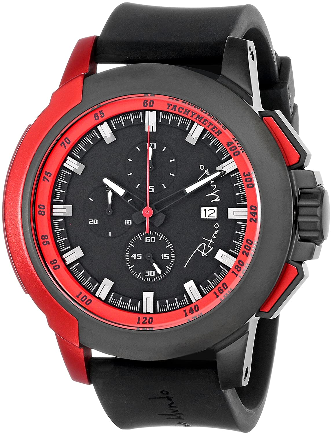 Ritmo Mundo Unisex 1101 4 Red Quantum Sport Quartz Chronograph Aluminum Accents Watch