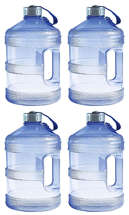 0c0b676372 Amazon.com : New Wave Enviro BpA Free 1 Gallon Water Bottle (Round)  (4.(Pack)) : Sports & Outdoors