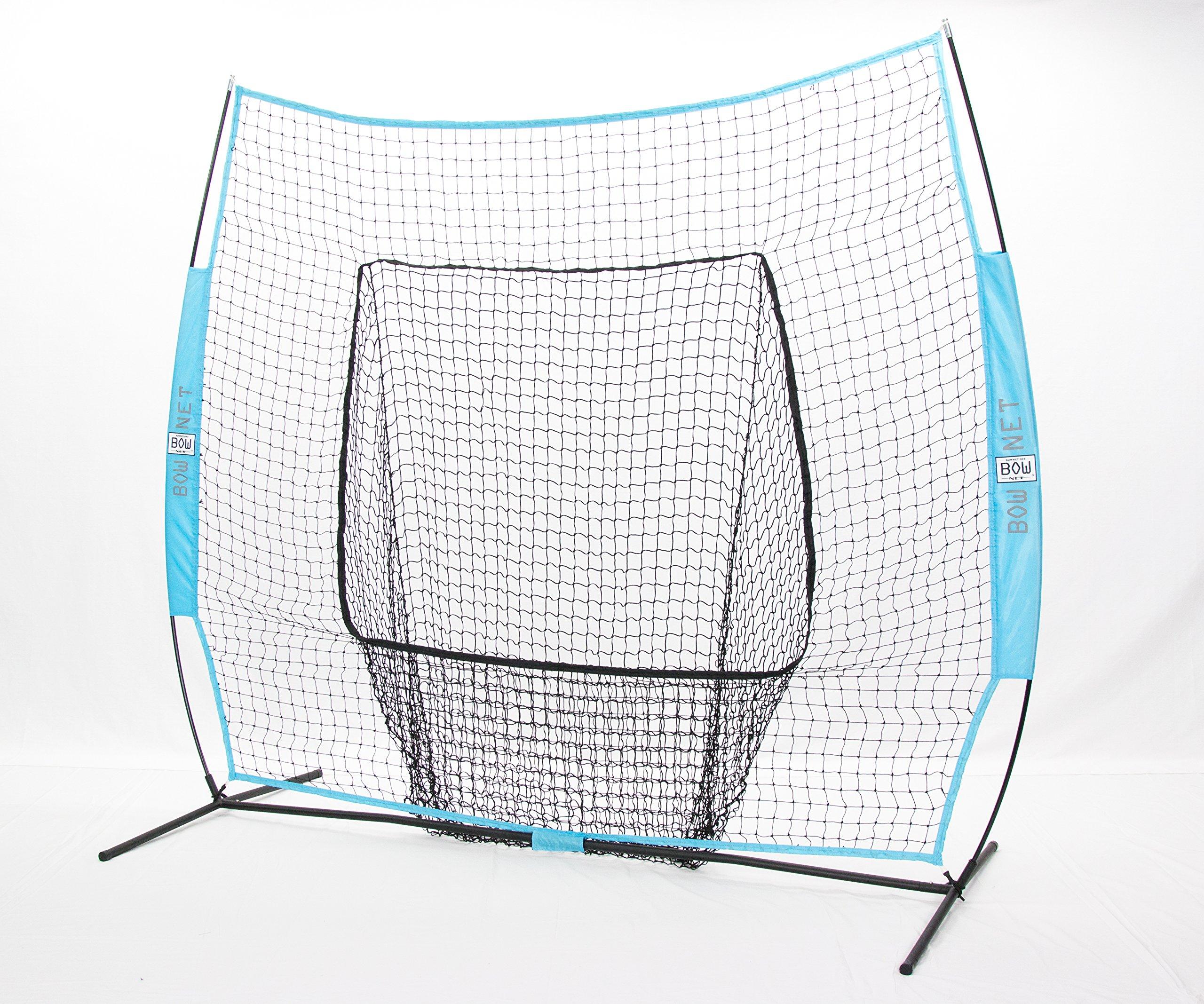 Bownet Big Mouth Portable Baseball/ Softball frame w/ Columbia Blue Net by USABatting (Image #1)