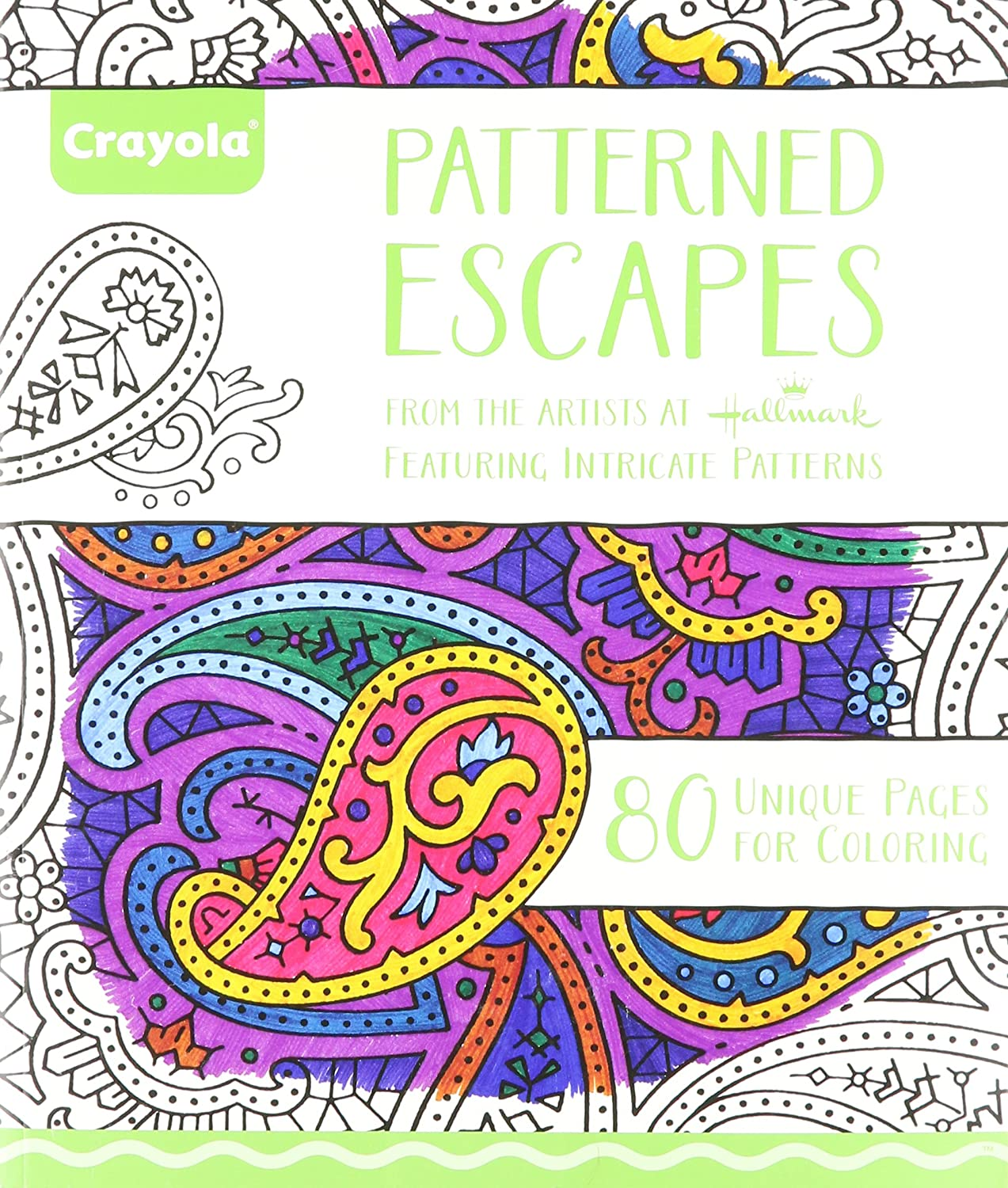 amazoncom crayola patterned escapes coloring book toys games