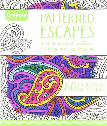 Amazon.com: Crayola Patterned Escapes Coloring Book: Toys & Games