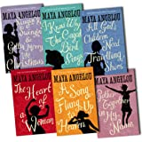Maya Angelou: 6 book collection - I Know Why the Caged Bird Sings / Gather together in My Name / Singin & Swinging & Getting Merry Like Christmas / The Heart of A Woman / All Gods Children Need Travelling Shoes / A Song Flung Up To Heaven rrp £48.94