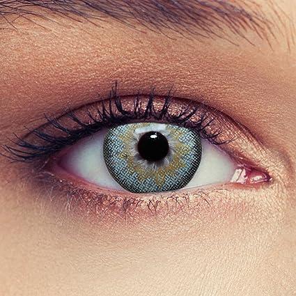 6761da221a3f0 Lentillas de color azul claro natural para los ojos oscuros de tres meses  sin dioprtías