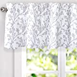DriftAway Sarah Floral Tree Branch Pattern Thermal Insulated Blackout Window Curtain Valance Rod Pocket 2 Layers 52 Inch…