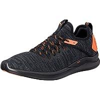 PUMA Men's Ignite Flash Evoknit Unrest Bl Shoes, Black-Shocking Orange