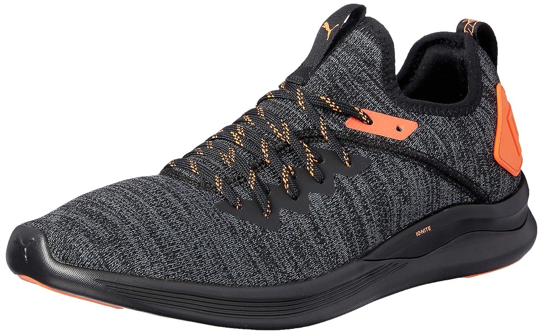 cf48426f85c PUMA Men's Ignite Flash Evoknit Unrest Bl Shoes, Black-Shocking Orange:  Amazon.com.au: Fashion