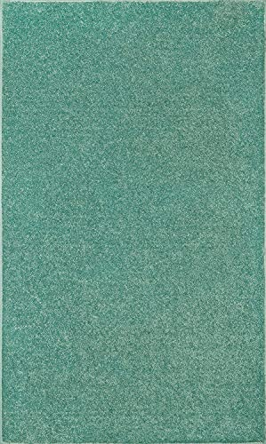 Home Queen Pet Friendly Solid Color Area Rugs Teal – 8 x10