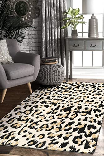 Lahome Leopard Print Area Rug