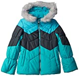 London Fog Girls' Big Color Blocked Puffer Jacket