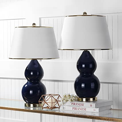 double gourd lamp spitzmiller safavieh lit4093bset2 jill double gourd ceramic lamp set of 2 16quot 16