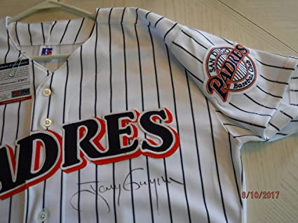 new style ae618 f6124 TONY GWYNN Signed (Mitchell & Ness) Padres Pinstripe Jersey ...