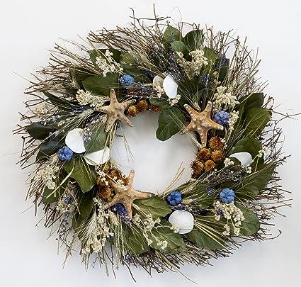 nautical luxuries big sur beach wreath - Beach Christmas Wreath