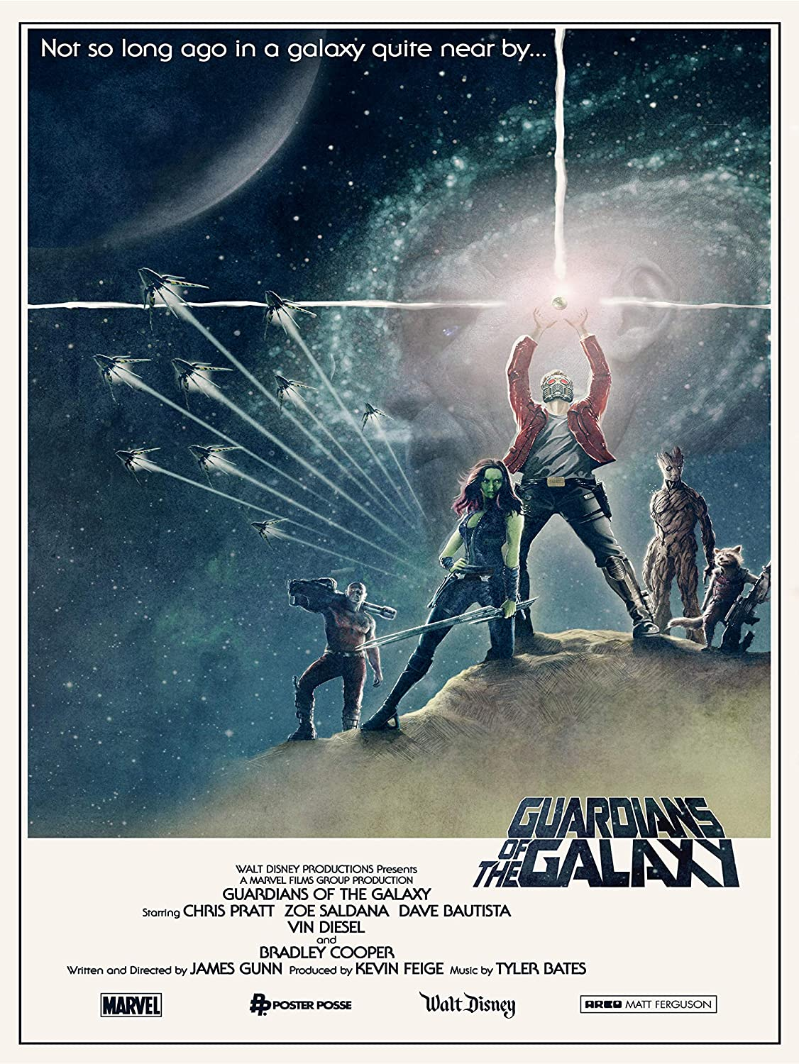 Gryposaurus Guardians of The Galaxy Movie Film Poster 18 × 24 Inches