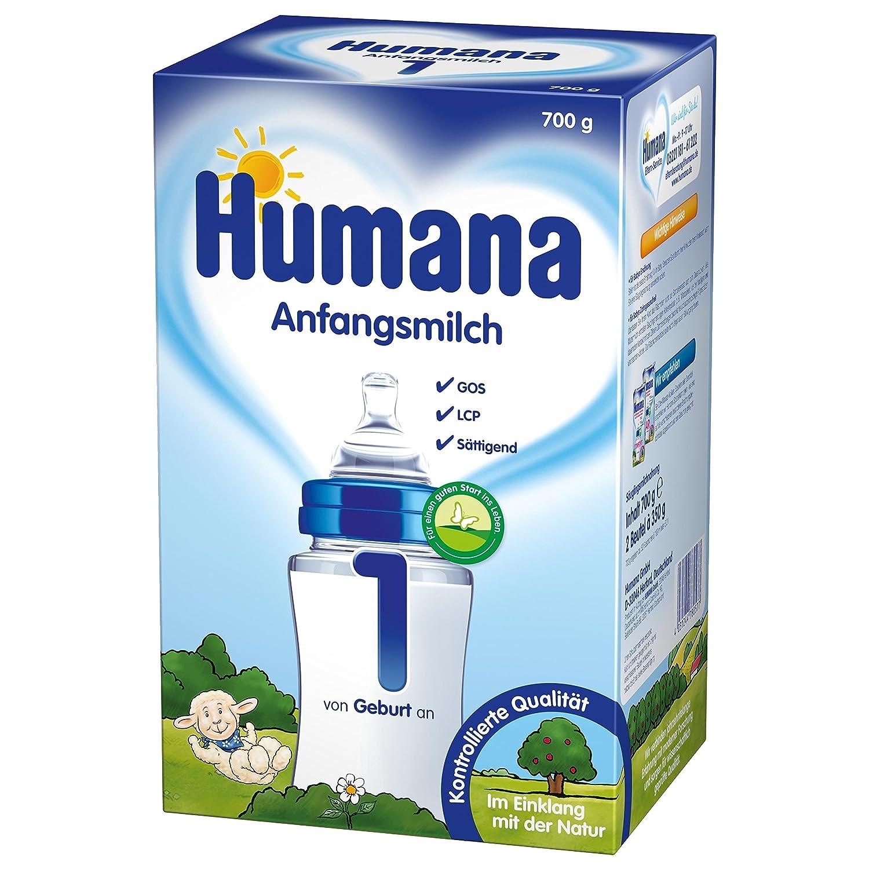 Humana Anfangsmilch 1 mit Lcp und Gos, 1er Pack (1 x 700 g) 78057 Baby Babymilch Milchpulver
